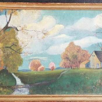 Folk art landscape - Folk Art