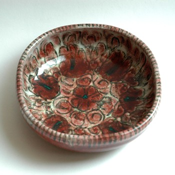 french art deco pottery ashtray by EDOUARD CAZAUX - Tobacciana