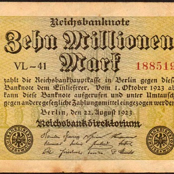 Germany - (10 Million) Mark Bank Note