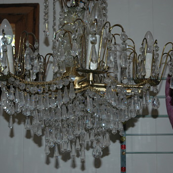 Old Chandelier that I found in an estate sale  - Lamps
