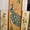 Mid Century Modern Pebble Art Bird Pictures