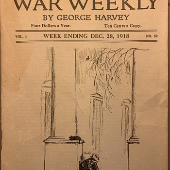 Vintage leaflet the north American reviews war weekly 1918 - Paper