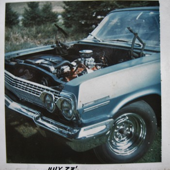 63 Chevy photos from 1972-73 of my high school car - Photographs