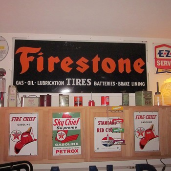 Firestone Porcelain Sign - Signs