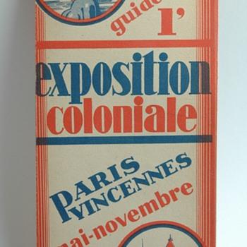 vêtements A.DONY STRASBOURG plan de l'exposition coloniale de paris en 1931  - Advertising