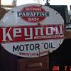 White Eagle Keynoil Motor Oil Double Sided Porcelain Sign