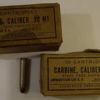 """M-1 Garand Bullets from World War 2 """"Two Boxes"""" - Military and Wartime"""