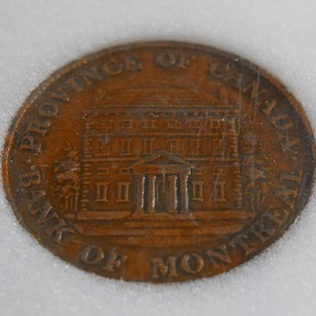 1844 Half Penny -Bank of Montreal Token-Extra Fine-40 - World Coins