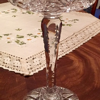 American Brilliant Glass Compote? But who did it?