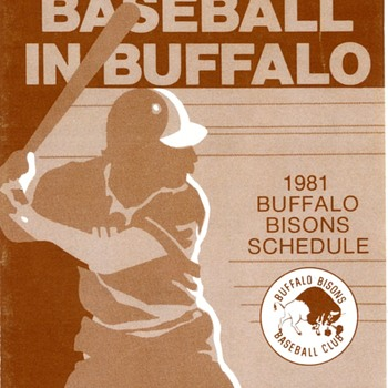 Buffalo Bisons 1981 Pocket Schedule