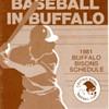 Buffalo Bisons 1981 Pocket Schedule