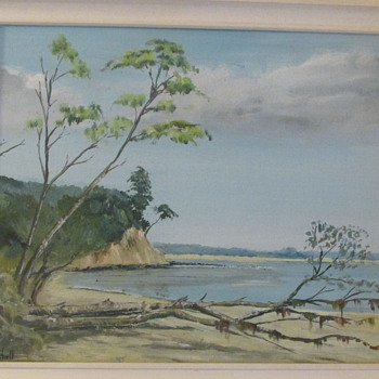 "Oil painting ""Studland Beach"" by local Dorset artist Len Mitchell - Fine Art"