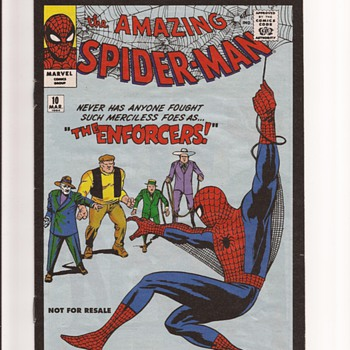 Spiderman reprint giveaway editions