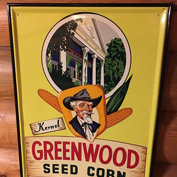Greenwood seed corn sign - Signs