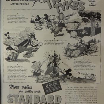 DISNEY STANDARD OIL ADDS - Advertising