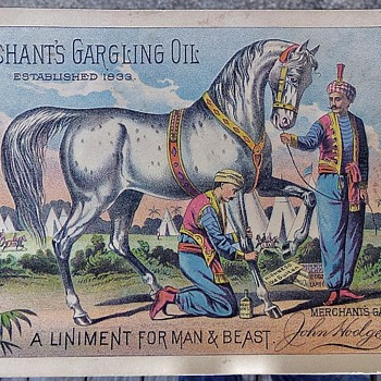 Merchant's Gargling Oil - Advertising