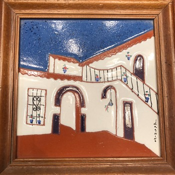 Southwestern Framed Tile - Pottery
