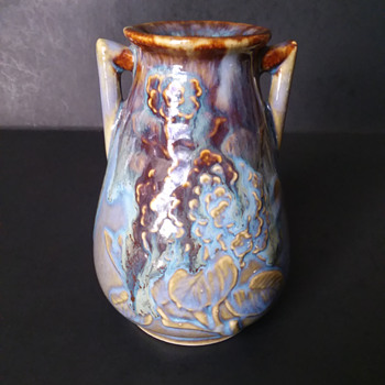 Japanese drip glaze vase - Asian