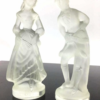 Lalique Frosted Crystal Colonial figures, Real or Fake? - Art Glass