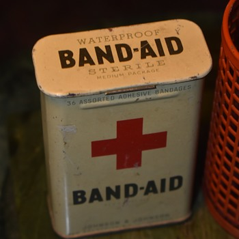 Old Tin Band-Aid Box - Advertising