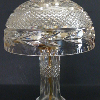 Cut crystal lamp, maker unknown - Lamps