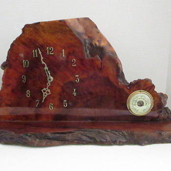 Redwood Burl Slab Clock