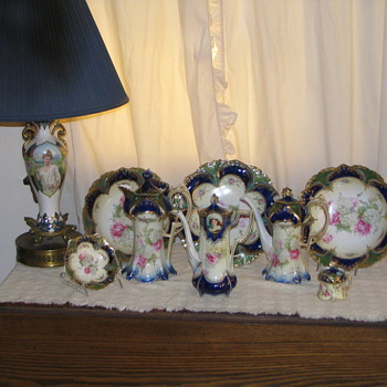 RS Prussia Cobalt pieces - China and Dinnerware