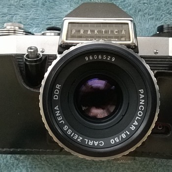 1966-praktica cameras- nova b, with my new Carl Zeiss pancolor lens fitted!