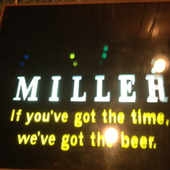 Rotating sign - Miller Beer - early 80s? - Signs