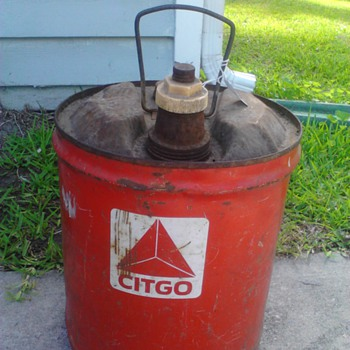 Old Citgo gas/oil metal can Man Cave  - Petroliana