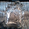 Federal Glass Company Trojan Horse Bookend / Hollow Clear Molded Glass/ Circa 1940