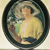 Coca Cola Golfer Girl, 1920 Oval Serving Tray