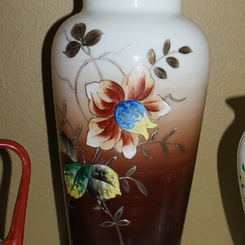 Large Bristol Glass Vase - Victorian Era