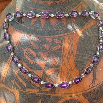 Antique Silver Amethyst and Paste Necklace? - Fine Jewelry