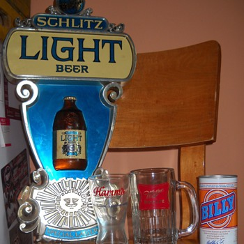 Schlitz Light, Hamm's, Miller High Life, and Billy Beer!