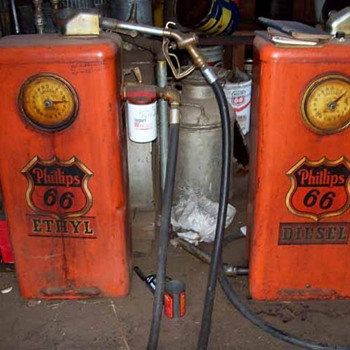 Antique Farm Gas Dispensers - Petroliana