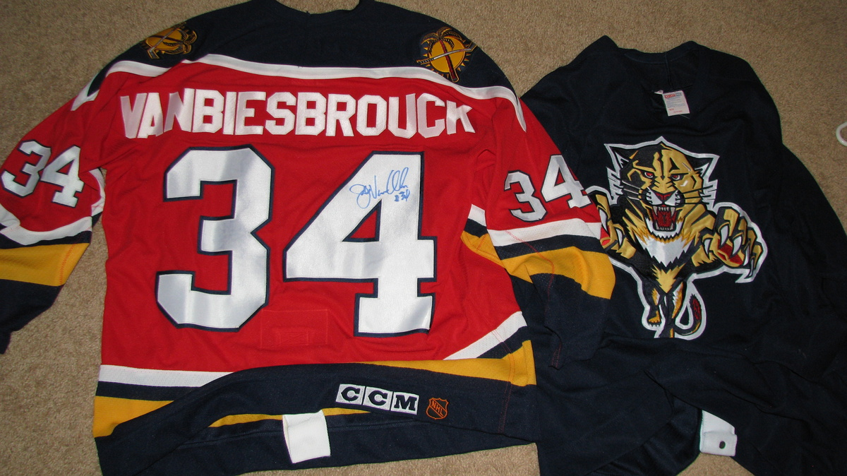 buy popular 9b5e7 75f27 Florida Panthers Hockey Team Jersey's (Game Used ...