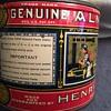 Vintage Henry Heide Genuine Almond Paste Tin Can