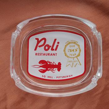 Poli' Restaurant Ashtray, Pittsburgh, PA - Advertising