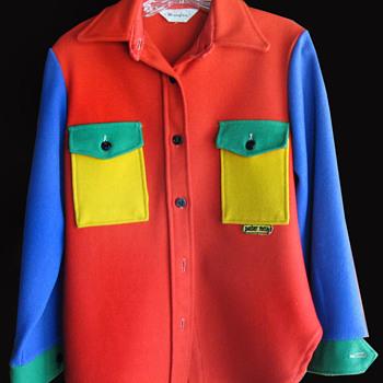 Vintage 1960s Peter Max color block Wrangler heavy Shirt or Jacket - Fine Art