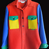 Vintage 1960s Peter Max color block Wrangler heavy Shirt or Jacket