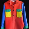 Vintage 1960s Peter Max color block Wrangler heavy Shirt or Jacket