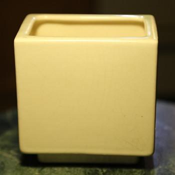 Pillow Vase - crackled white glaze - Pottery