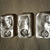Old pour silver bars