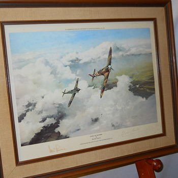 Yard Sales Find 6 of 10, Duel Of Eagles by Robert Taylor print, Circa 1981 - Fine Art