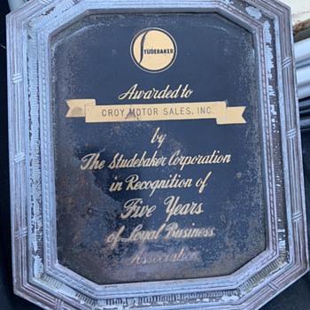 Studebaker award - Classic Cars