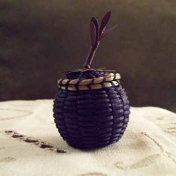 Penobscot Miniature Blueberry Basket by Kim Bryant - Native American