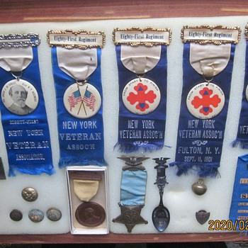 Veteran Badges, and Keepsakes from Civil War 81st New York Regiment - Military and Wartime