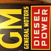 """GM """"Diesel Power Sign"""" 2 sided 30x36"""