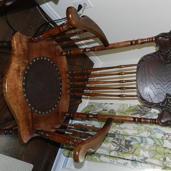 Pressback rocking chair